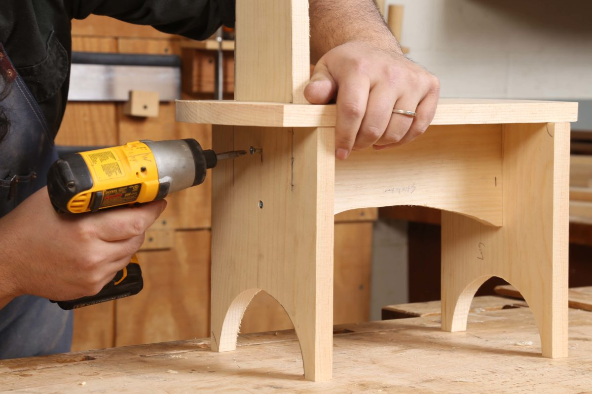 Free Plan Kids In The Shop Shaker Step Stool