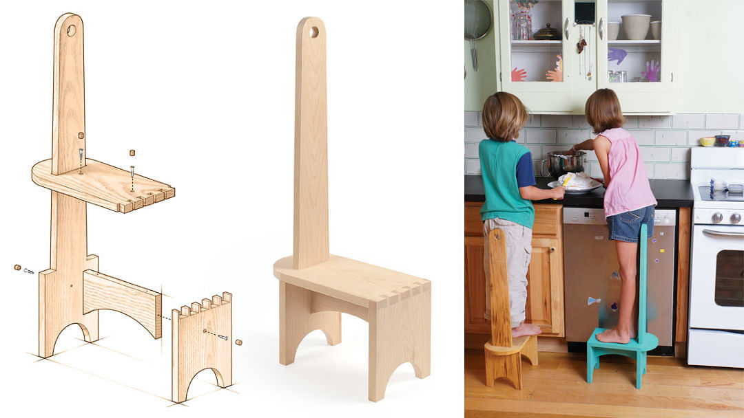 Shaker Single Step Stool Finewoodworking