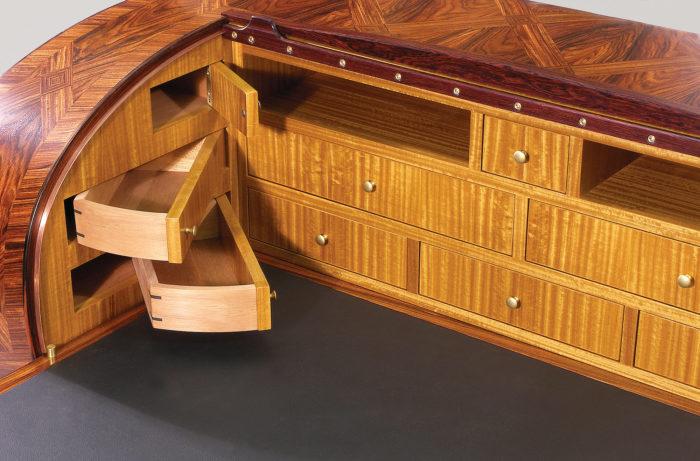 slant-front desk detail