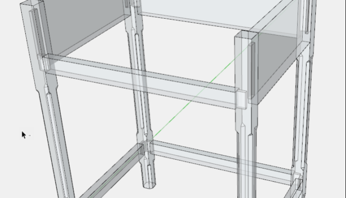 How to Develop a Piece of Furniture in SketchUp – Part III, Joinery