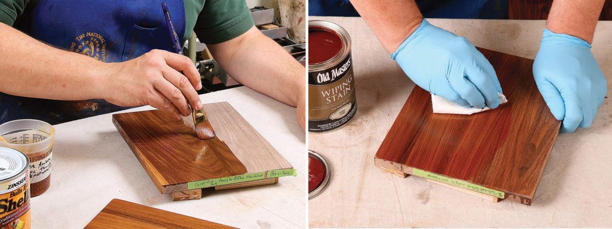 using a cedar glaze for a walnut finish