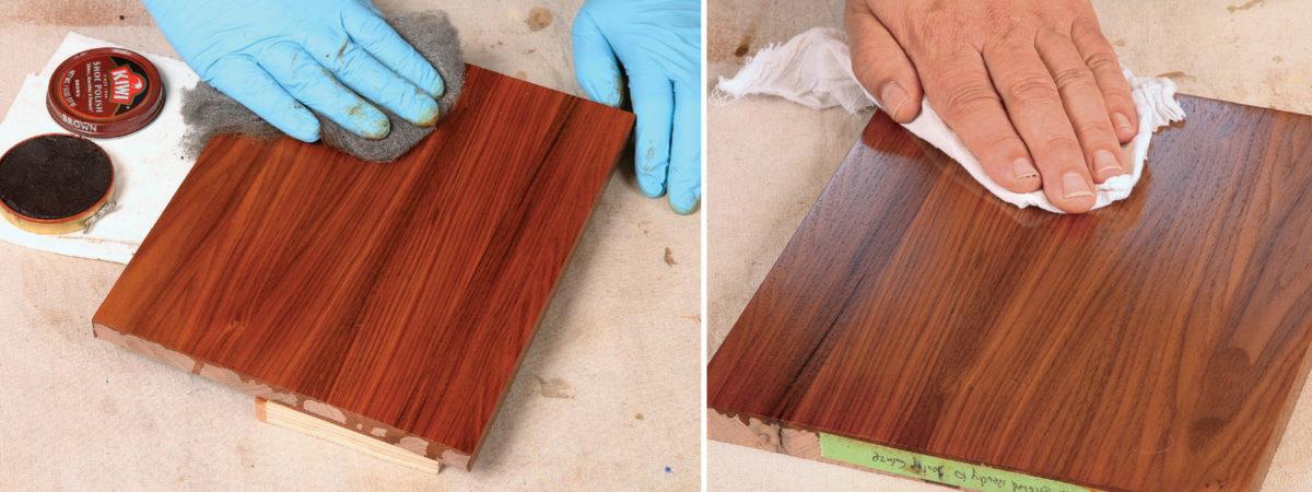 using a wax topcoat for a walnut finish