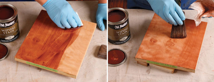 using oil-based stain as glaze