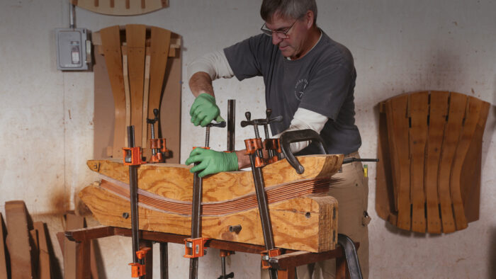 bent lamination to create curved furniture