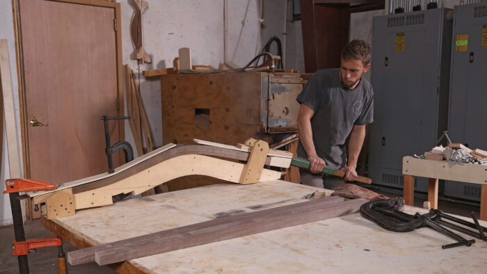 steam bending to create curved furniture pieces
