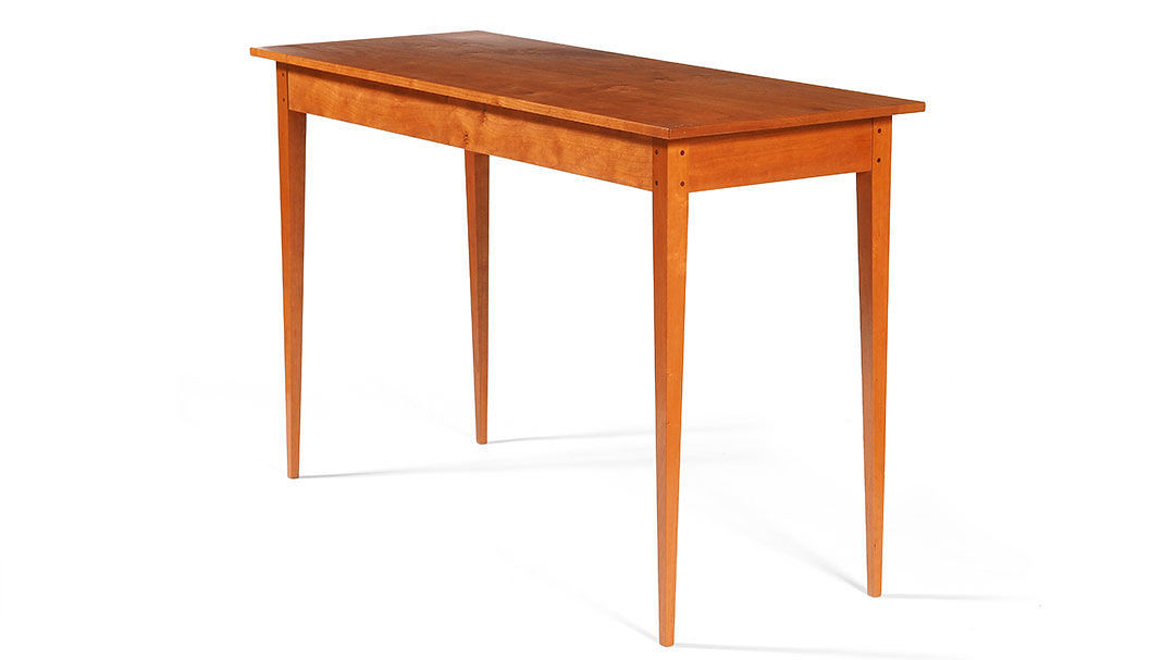 Shaker Inspired Hall Table Plans Finewoodworking