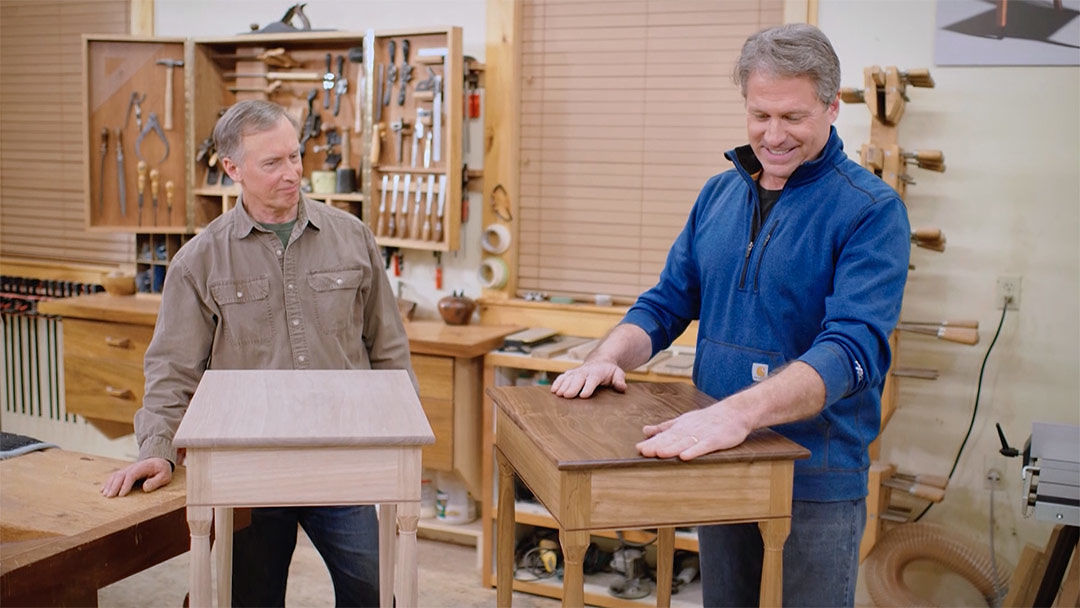 Rough Cut: End Table with Carved Accents (810 ...