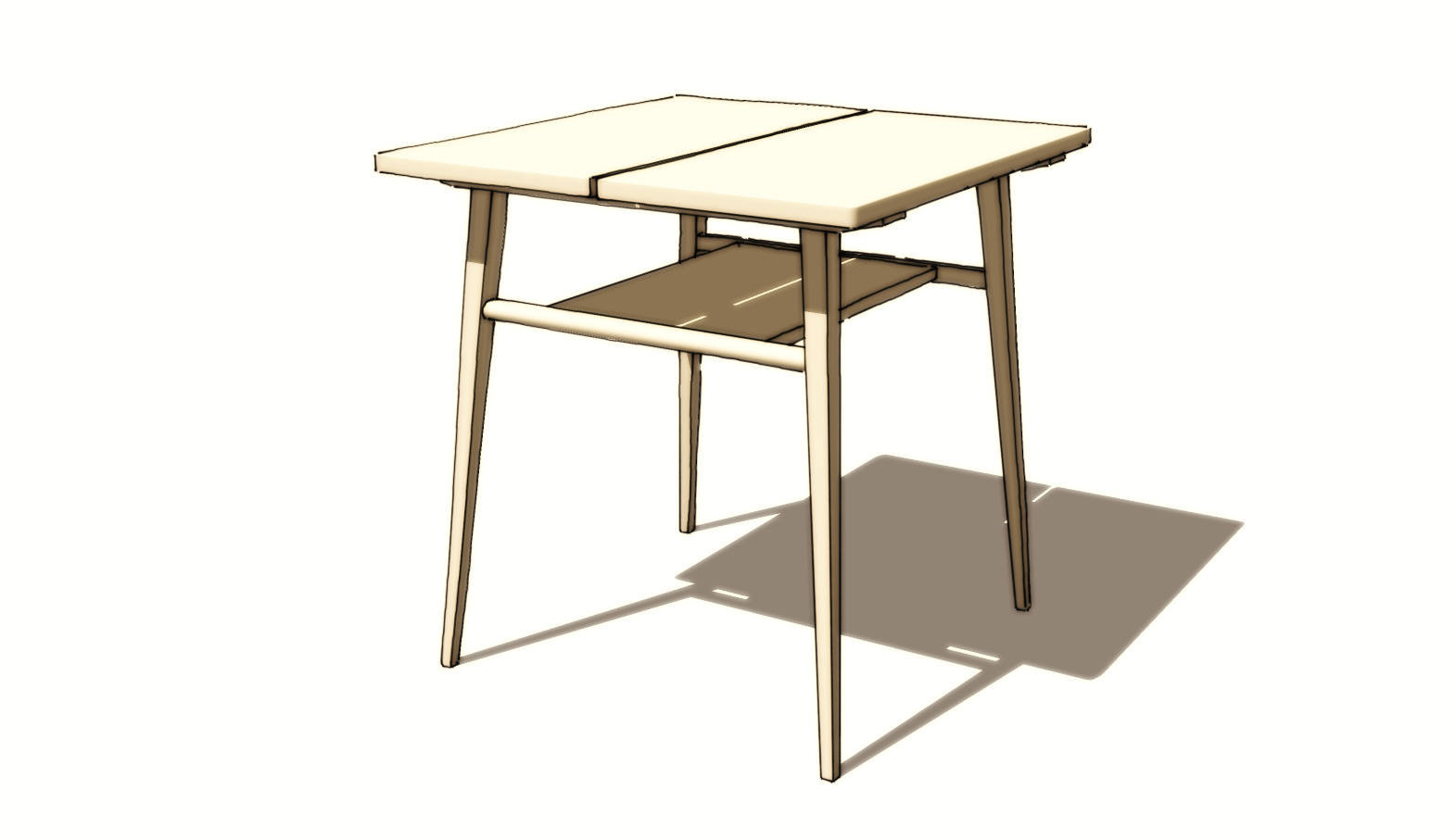 Sketchup Modeling Table And Stool Legs With Rake And