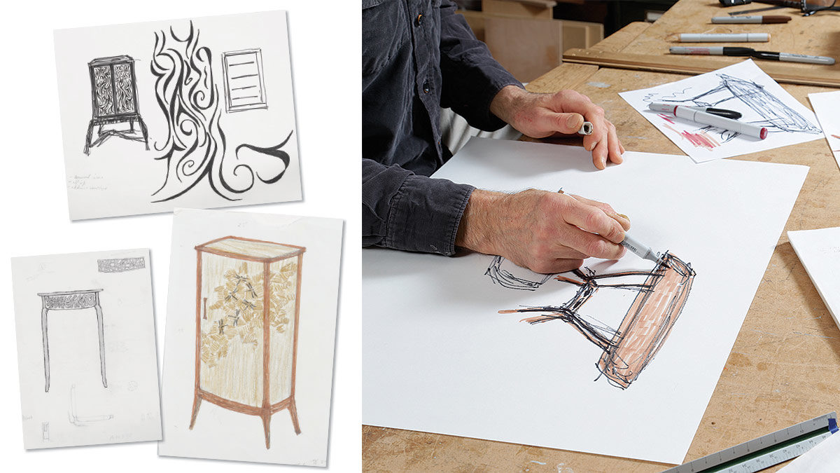 Furniture sketches by Tim Coleman