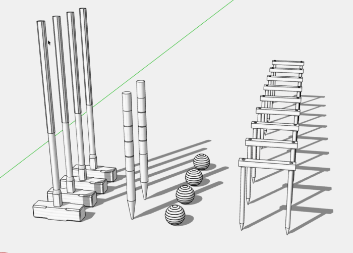 Modeling A Croquet Set With Section Cuts Finewoodworking