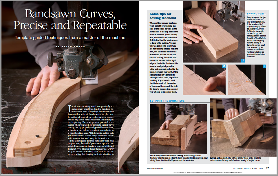 Brian Boggs' Guide to Bandsawn Curves