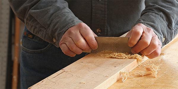 using a card scraper