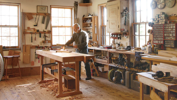 At Home In The Shop Finewoodworking