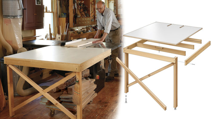 Phenomenal Build A Basic Tablesaw Outfeed Table Finewoodworking Home Interior And Landscaping Oversignezvosmurscom