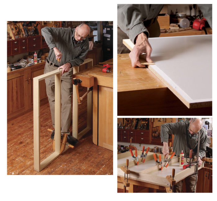 tablesaw outfeed table assembly