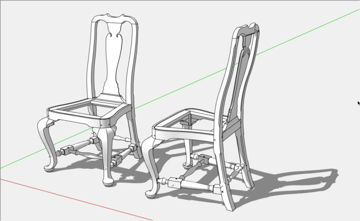 SketchUp: Modeling A Queen Anne Back Slat - FineWoodworking