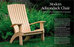 Modern Adirondack Chair issue spread