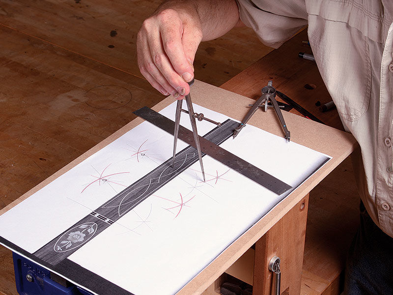 draw a diagram for the legs of the table