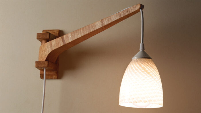 Make A Contemporary Swing Arm Lamp Finewoodworking