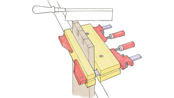 Workshop Tip: Improvised vise uses common clamps
