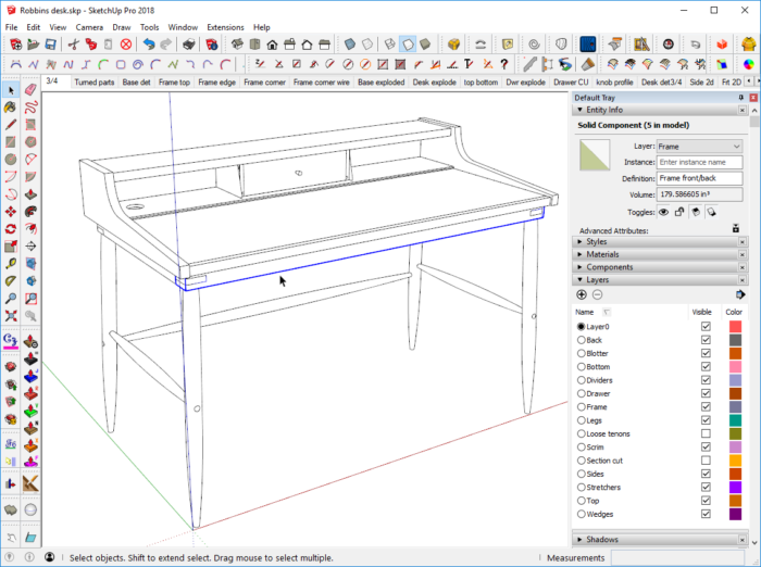 Layers in SketchUp: The Basics - FineWoodworking