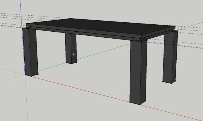 Attaching Legs To A Thick Table Top Without An Apron