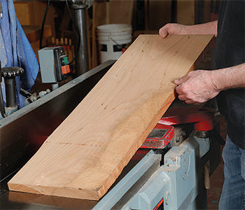 getting wood ready for the planer