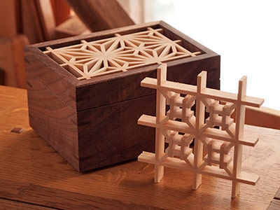 Mitered Box with a Kumiko Top