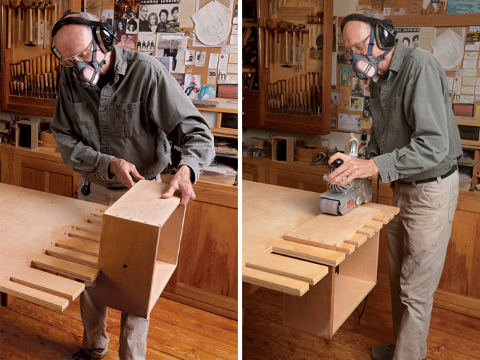 sanding boxing in a fixture
