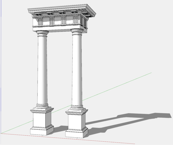 The Doric Order - Classic Architecture in SketchUp