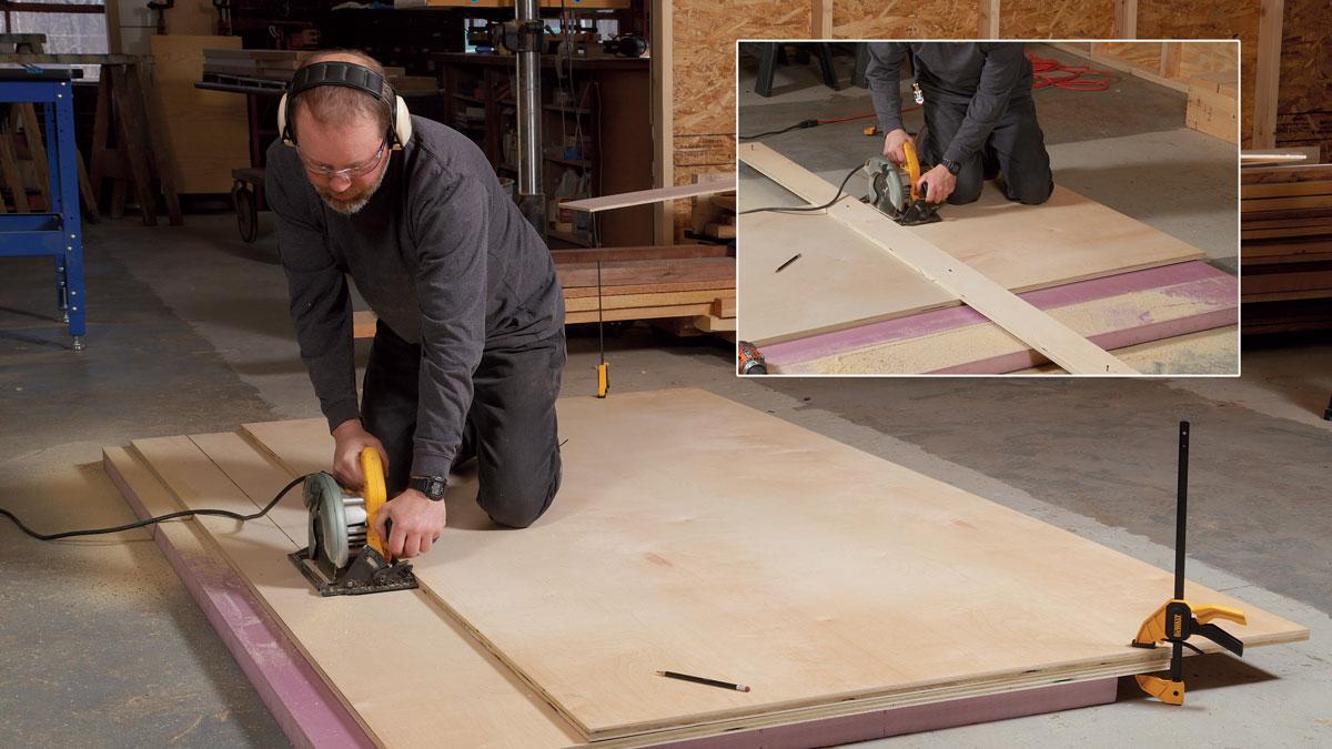 rigid plywood base