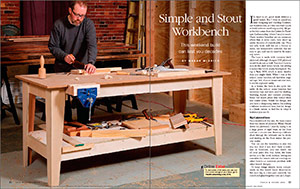 simple and stout workbench spread