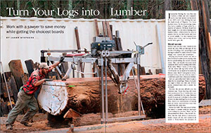 turn your logs into lumber spread