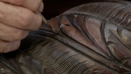 french polishing carved details