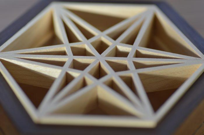 kumiko panel on box lid