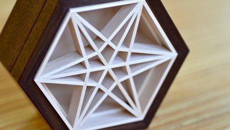 six-sided small box with a kumiko panel