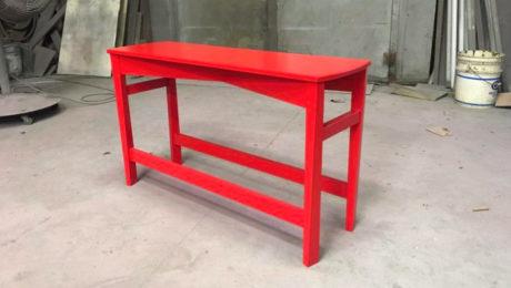custom red bench
