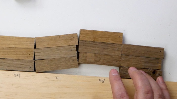 fuming white oak for different time periods