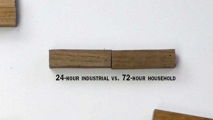 fuming white oak industrial vs household