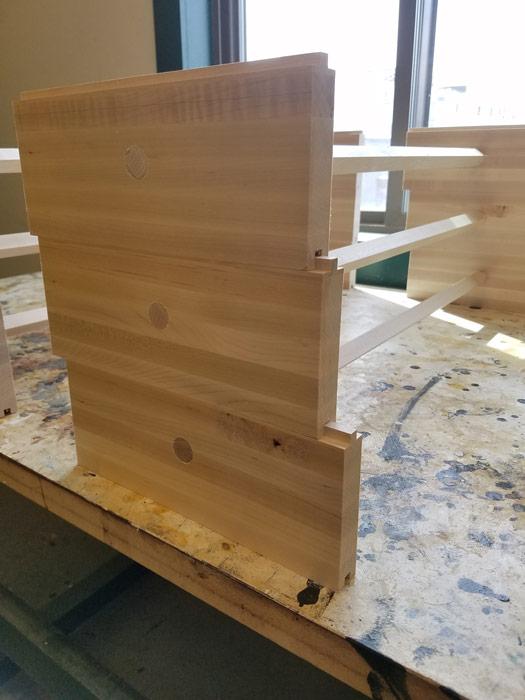 Small parts finishing basket
