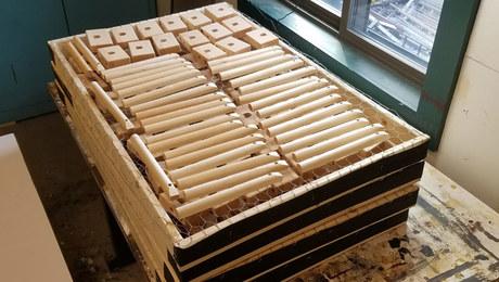 Shopmade racks simplify finishing