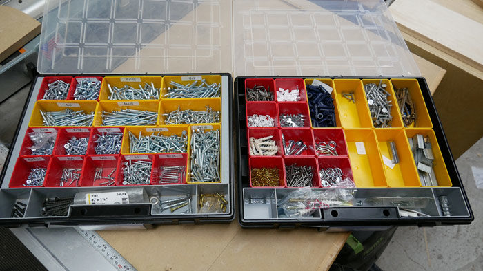 storage for screws and nails