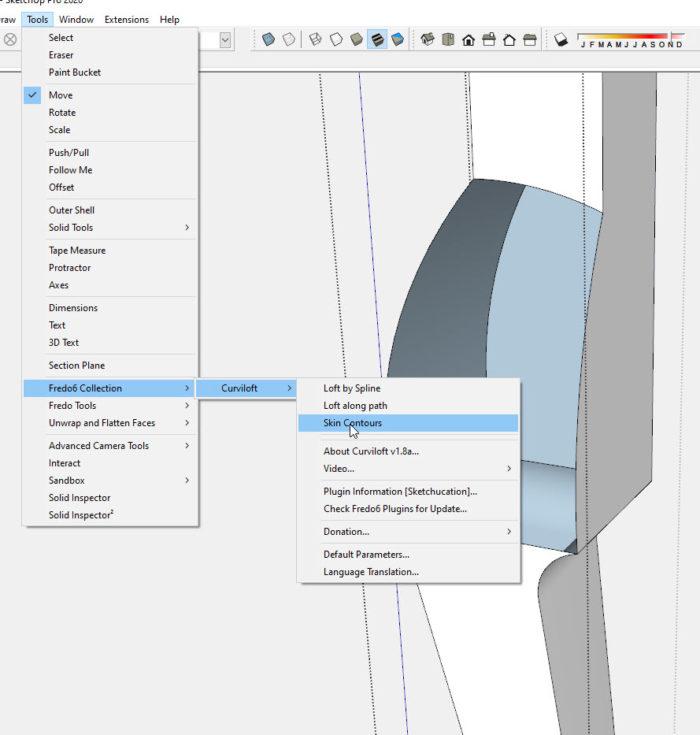 Criando faces curvas complexas no SketchUp 17