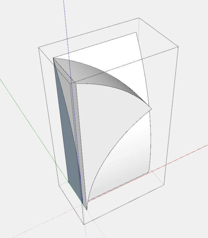 Criando faces curvas complexas no SketchUp 18