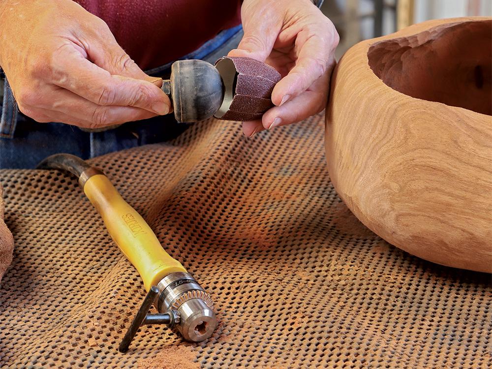 pneumatic sanding ball