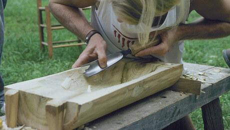 Carving a Dough Bowl