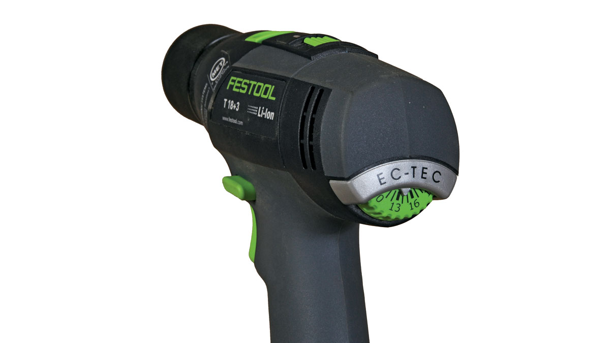 torque. The drill comes with independent drilling and driving functions, and adjusting one setting doesn't affect the other.