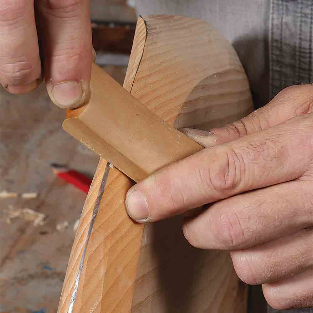 bring top and bottom curves together, spokeshave the top first