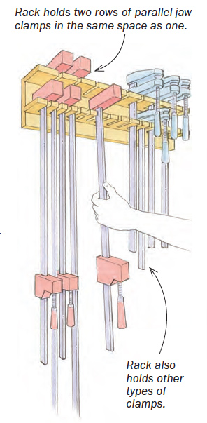 double-stack clamp rack