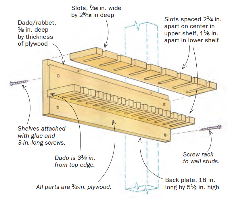 double-stack clamp rack plan